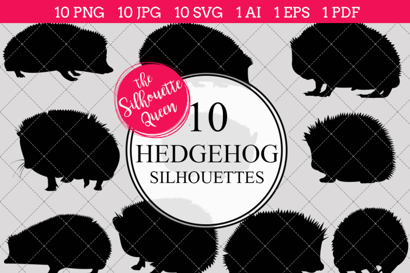 hedgehog-silhouette-vector