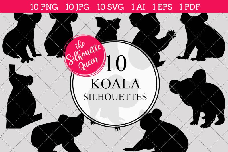 koala-silhouette-vectors