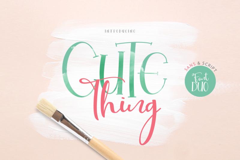 cute-thing-font-duo