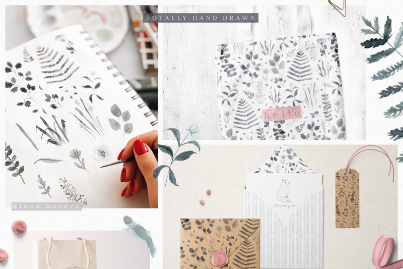 monochrome-forest-patterns-and-clipart