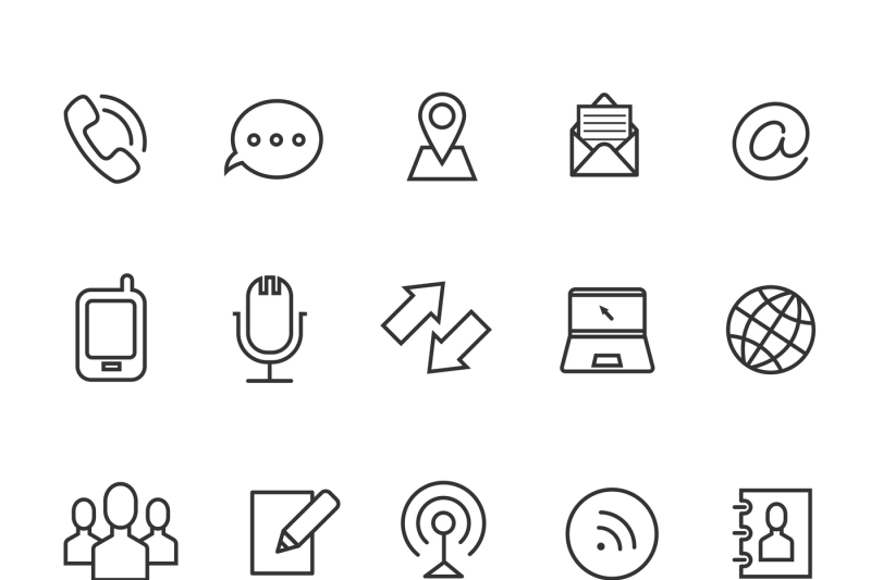 communication-line-vector-icons-for-business-card