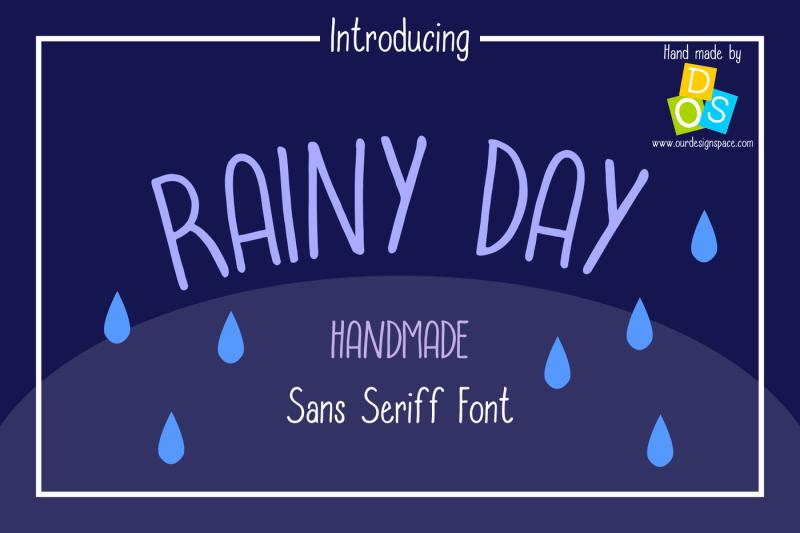 rainy-day-handmade-sans-serif-font