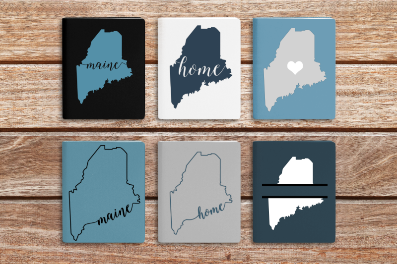 state-of-maine-set-svg-png-dxf