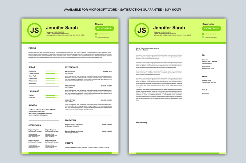 resume-cover-letter-pastel-colors