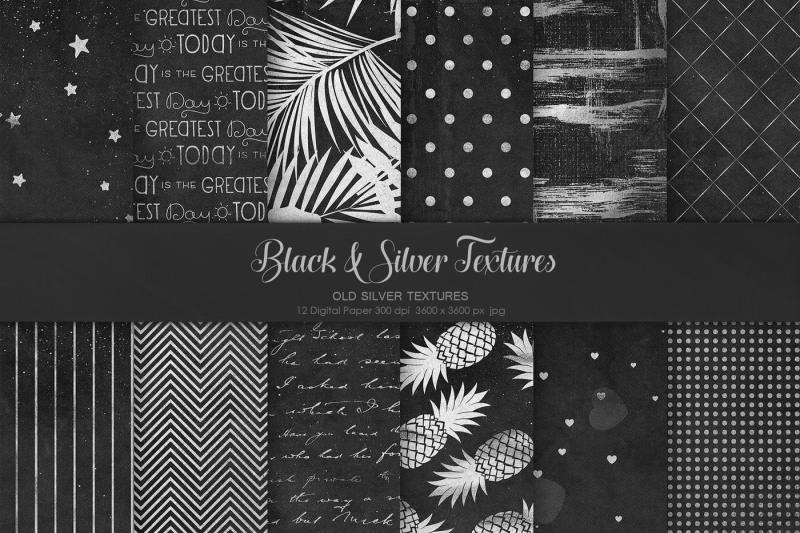 black-amp-silver-textures
