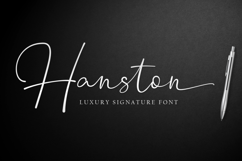 hanston-luxury-signature-font