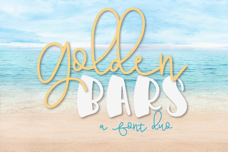 golden-bars-a-font-duo