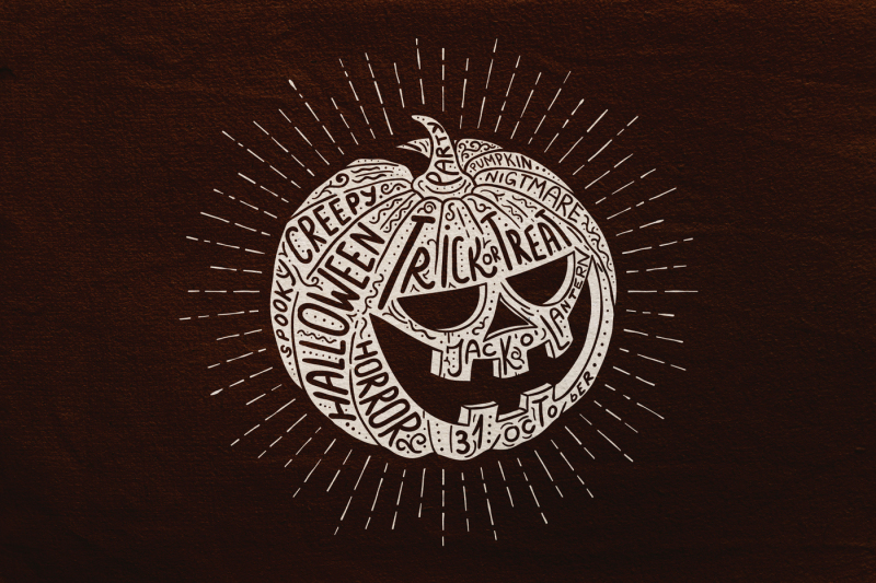 halloween-pumpkin-engraving-style