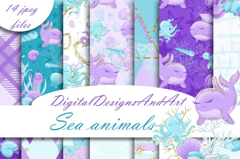 sea-animals-digital-paper