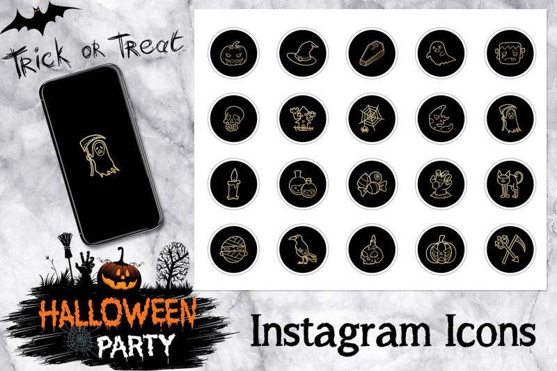 gold-halloween-instagram-icons