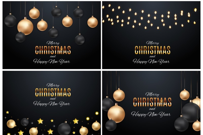 4-merry-christmas-and-new-year-background-vector-illustration