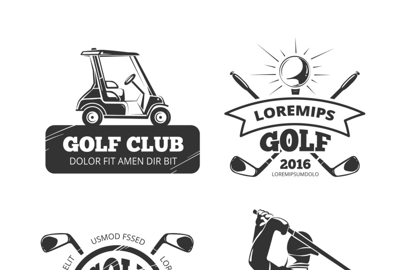 retro-vector-golf-labels-emblems-badges-and-logos