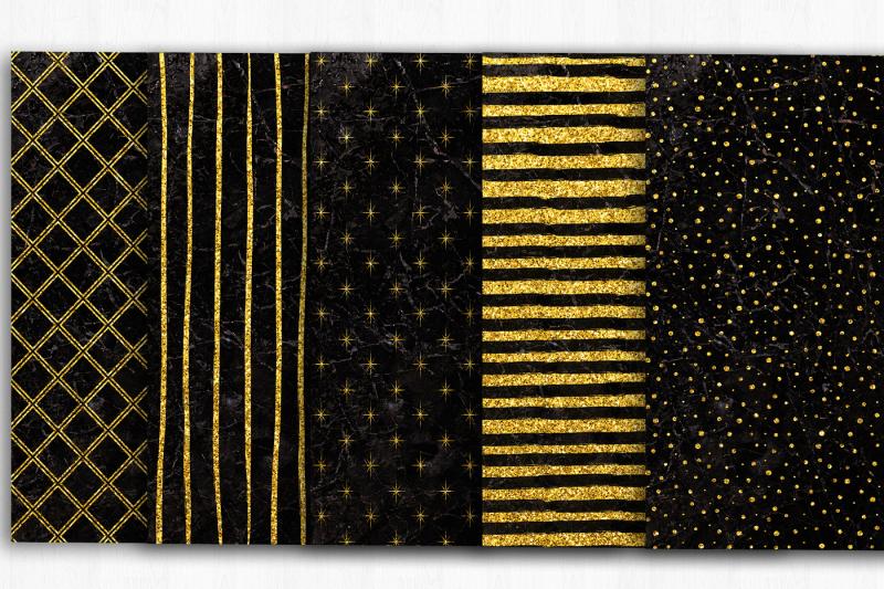 black-marble-gold-digital-paper