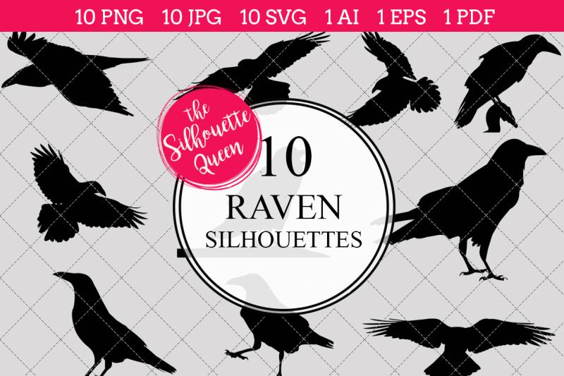 raven-silhouette-vector
