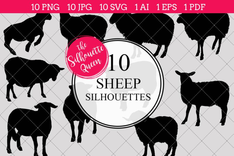 sheep-silhouette-vectors
