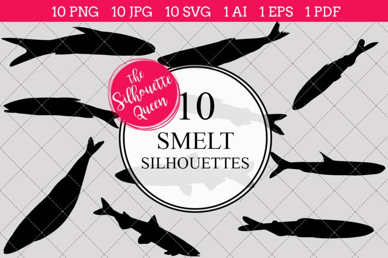 smelt-silhouette-vectors