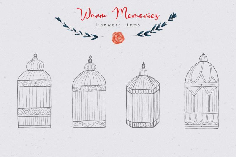 warm-memories-hand-drawn-set