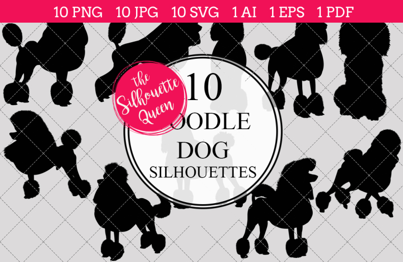 poodle-dog-silhouette-vector