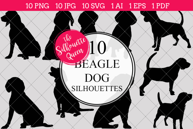beagle-dog-silhouette-vector