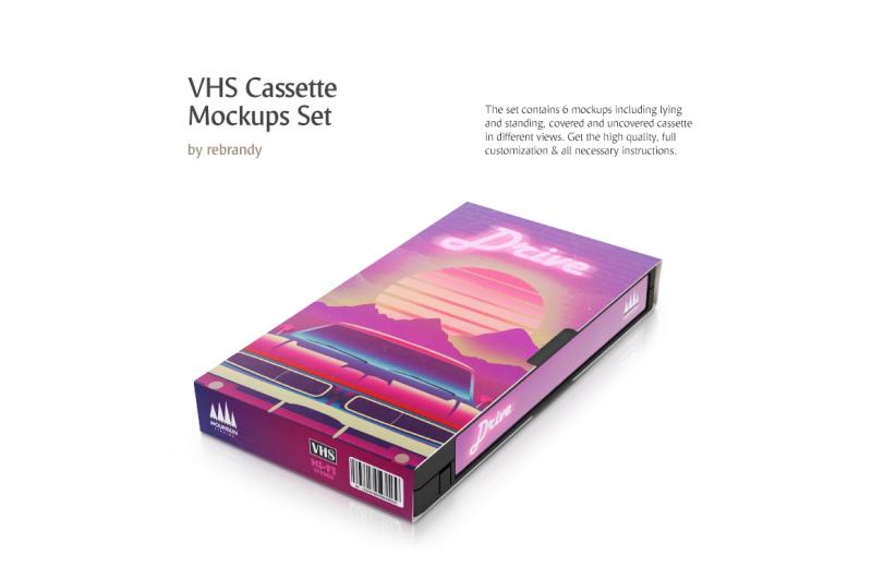 Free VHS Cassette Mockups Set (PSD Mockups)
