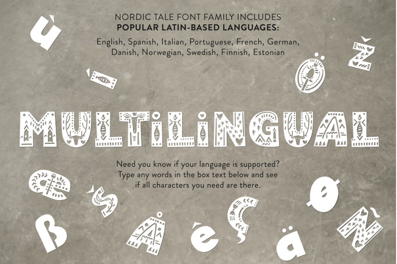 Nordic Tale Folkart Font Family By Struvictory Art