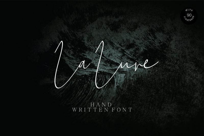 la-lune-hand-written-font