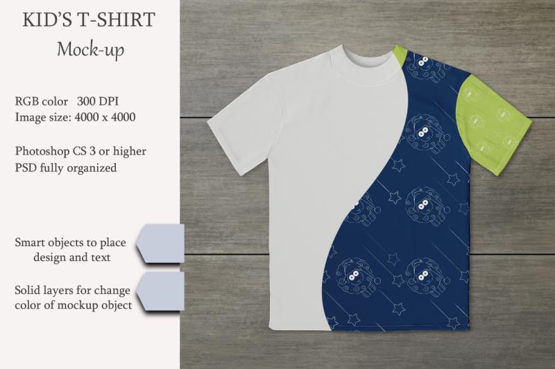 Free Kids t-shirt mockup. PSD object. (PSD Mockups)