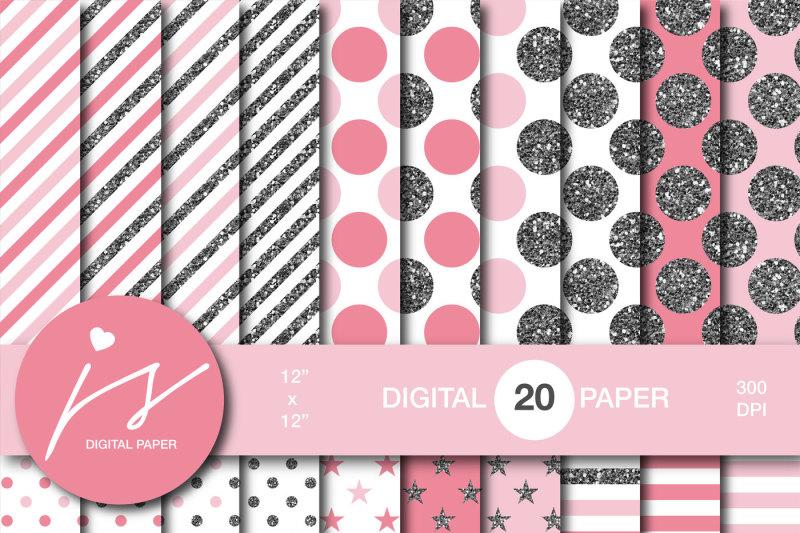 pink-silver-glitter-digital-paper-mi-870
