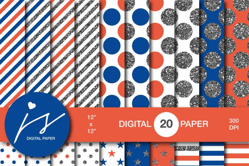blue-and-orange-silver-glitter-digital-paper-mi-886