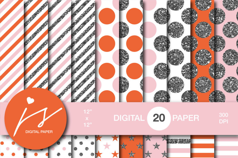 pink-and-orange-silver-glitter-digital-paper-mi-887
