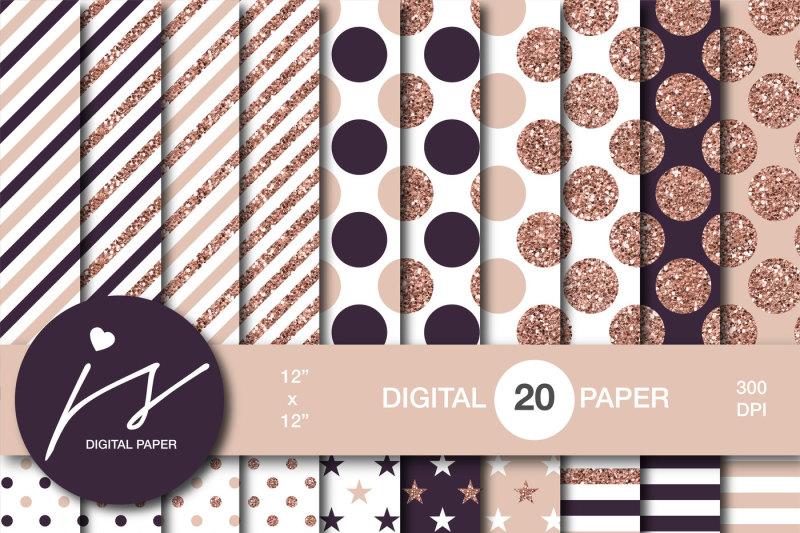 rose-gold-glitter-digital-paper-mi-901