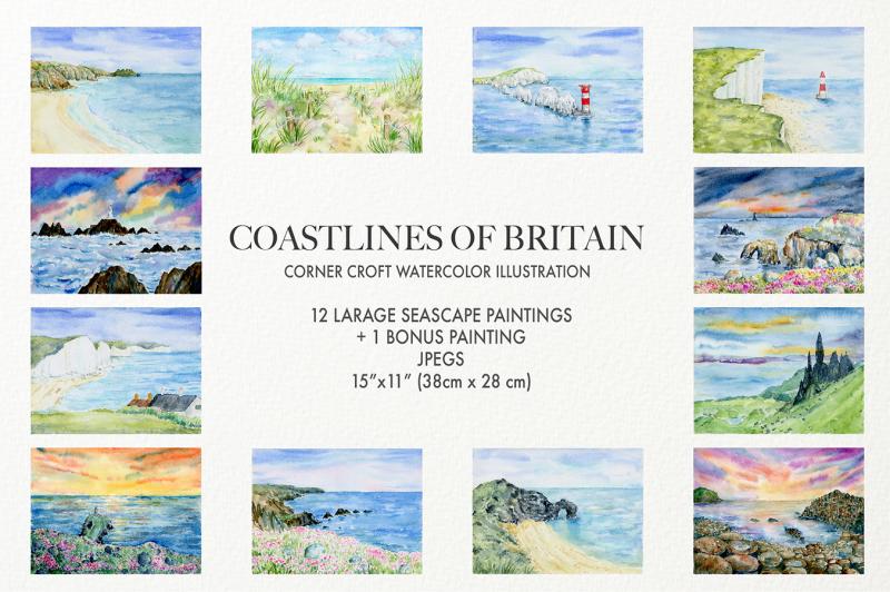 watercolour-coastlines-of-britain