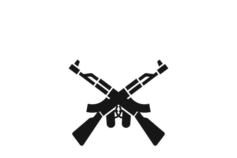 crossed-machine-guns-like-kalashnikov-ak47-vector-icon