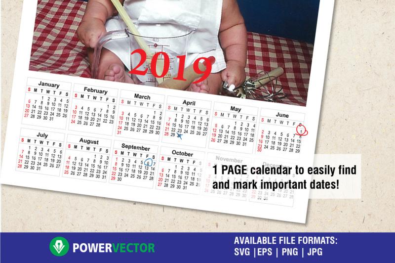 2019-calendar-template