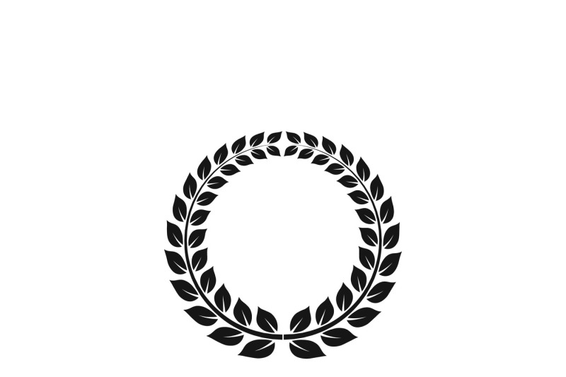 wreath-with-laurel-leaves-vector-icon