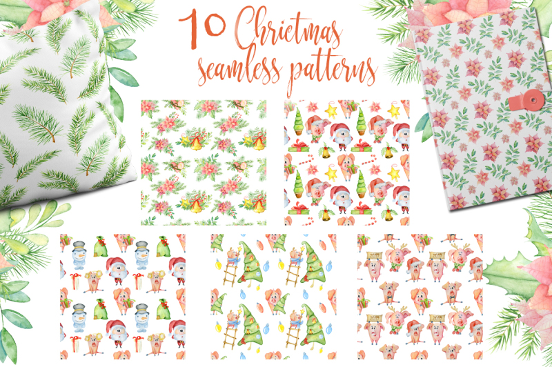 christmas-seamless-patterns-with-pigs