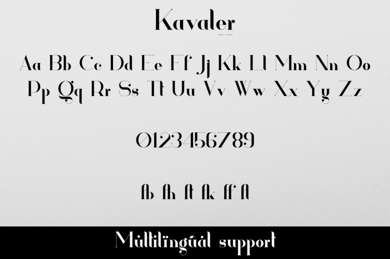 kavaler-serif-font