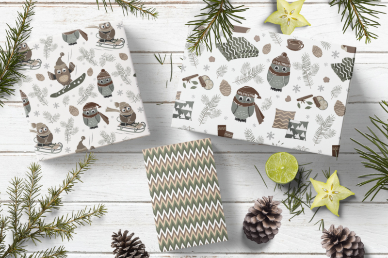 4 Christmas Seamless Patterns By Toltemara Thehungryjpeg Com