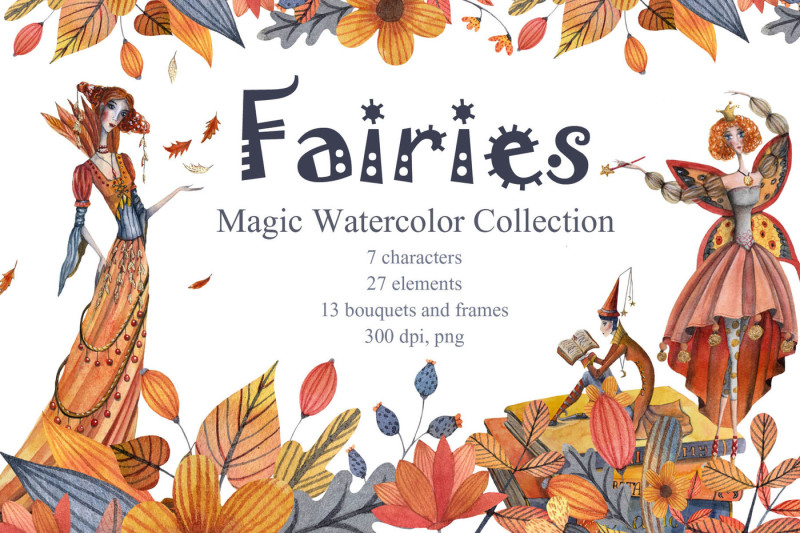 fairies-magic-watercolor-collection