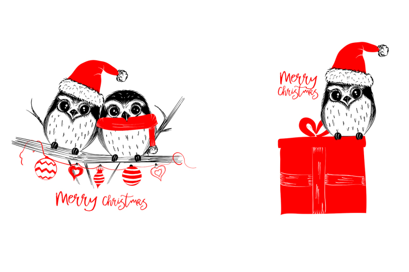 christmas-collection-cute-animals