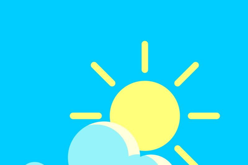 vector-blue-sky-and-the-sun-day-icon