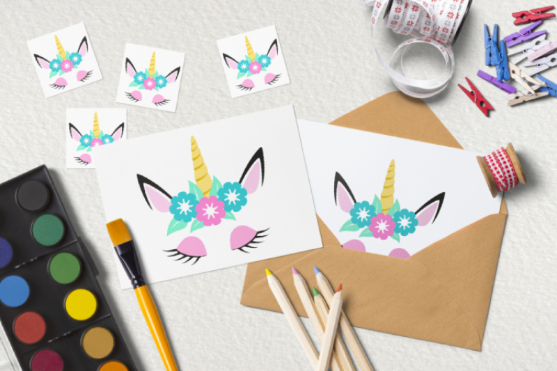 Unicorn Head Svg Cute Unicorn Clipart By Bunart Thehungryjpeg Com