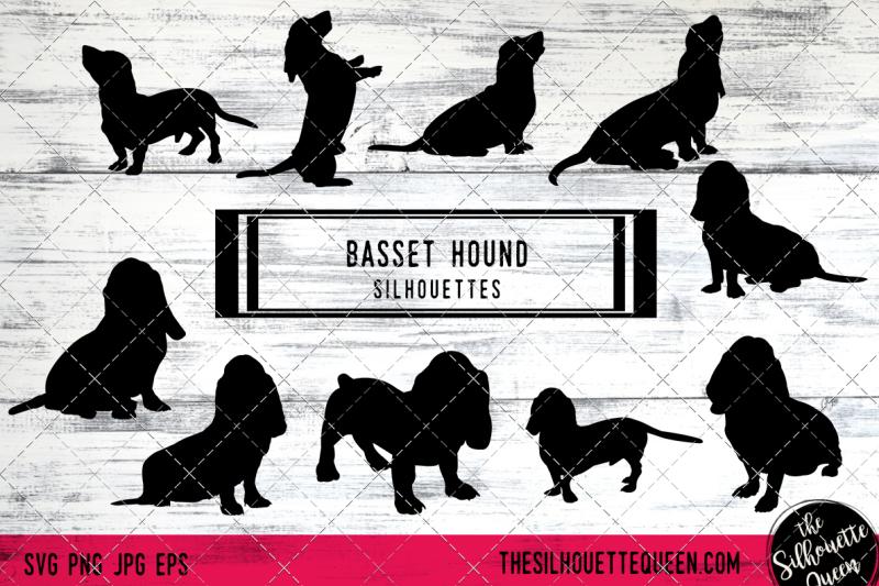 basset-hound-vector-silhouettes