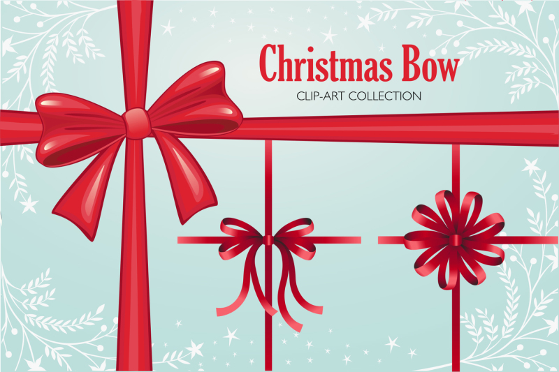 christmas-bow-clip-art-collection