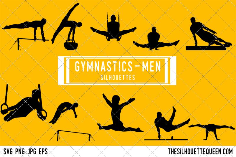male-gymnastics-silhouette-vector