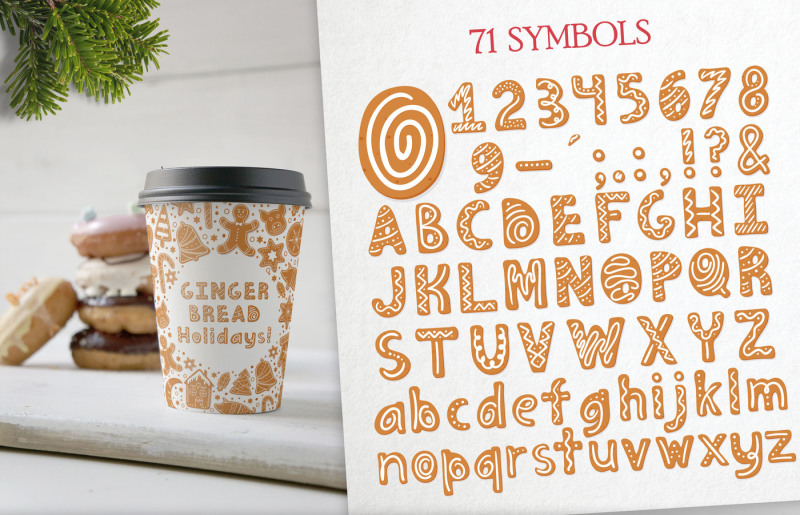 gingerbread-christmas-color-svg-font
