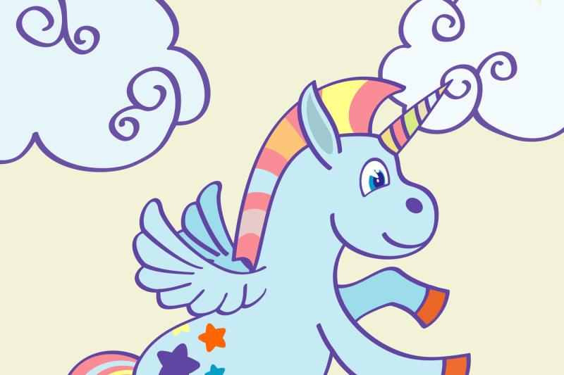 vector-hand-drawn-unicorn-rainbow