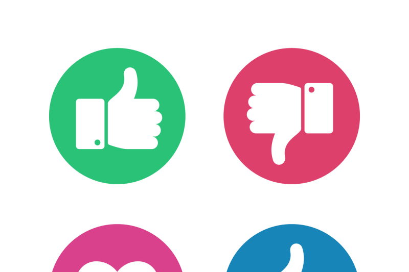 thumbs-up-down-sign-point-finger-and-heart-icons-in-red-and-green-cir