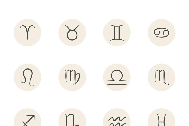 set-of-vector-zodiac-signs-in-circles-white-background