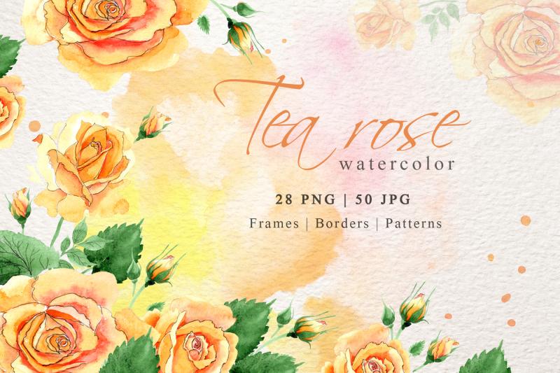 watercolor-tea-yellow-rose-png-set-nbsp